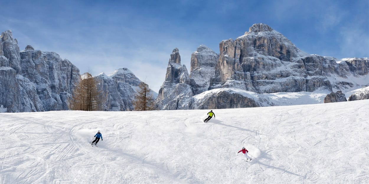 The ski slopes from Alta Badia